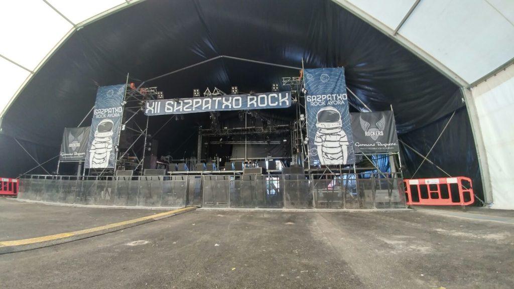 escenario principal gazpatxo rock