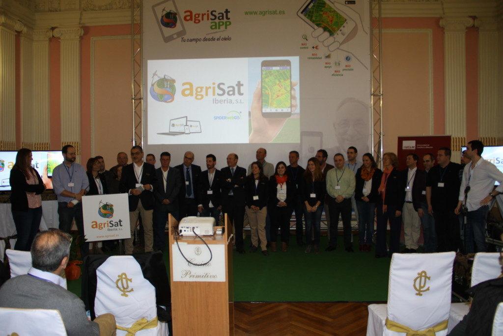 foto presentación de la nueva agrisat app.